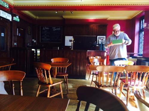 Our literary pub crawl host