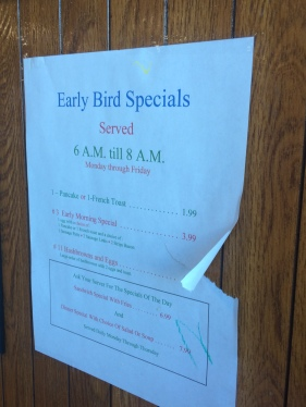 Early bird, indeed