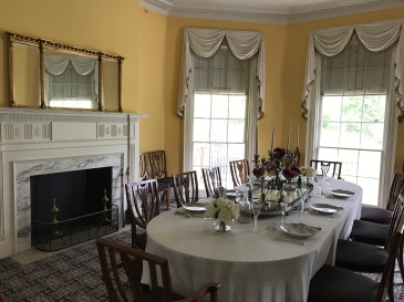 The Hamiltons' dining room