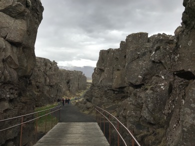 Entrance to Þingvellir