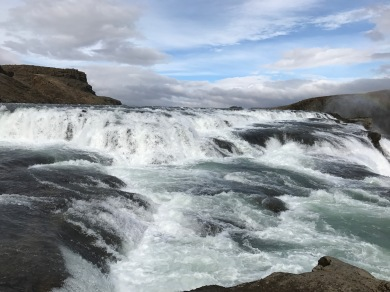 Standing in the middle of Gullfoss, essentially