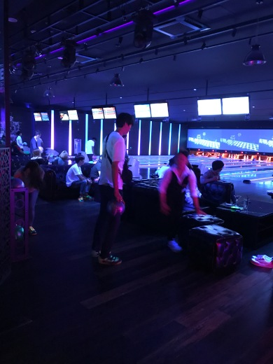 A bowling alley at 3 a.m.