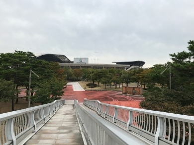 The path to the stadium