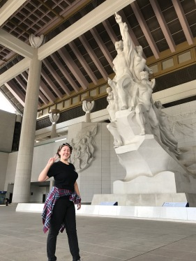 The Statue of Indomitable Koreans + me